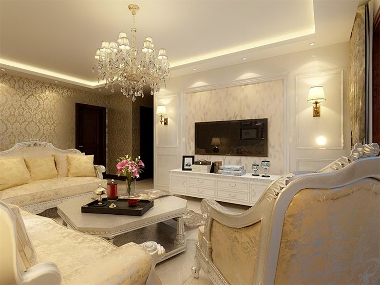 欧式风格软装搭配技巧:2、窗帘质地 欧式风格的家居一般大厅宽敞,窗户比较高大,这样选择的窗帘应该更具有质感,比如考究的丝绒,真丝,提花织物。可以选用质地较好的麻制面料,颜色和图案也应偏向于跟家具一样的华丽,沉稳。暖红,棕褐,金色都可以考虑。另外一些装饰性很强的窗幔以及精致的流苏会起画龙点睛的作用。